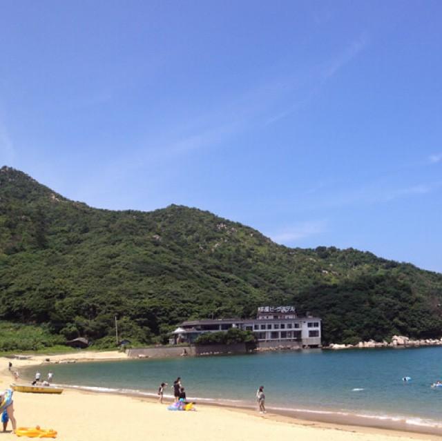 芥屋海水浴場風景